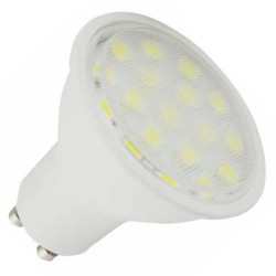 Lámparas LED GU10 de 5W de 120º luz cálida