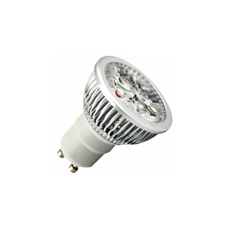 Caja 10 bombillas de 3 LEDs GU-10 3x2W (6W) 30/45º 2700K cálida