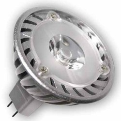 Bombillas LED 3W MR16 G5,3 12V 38º 6400K fría