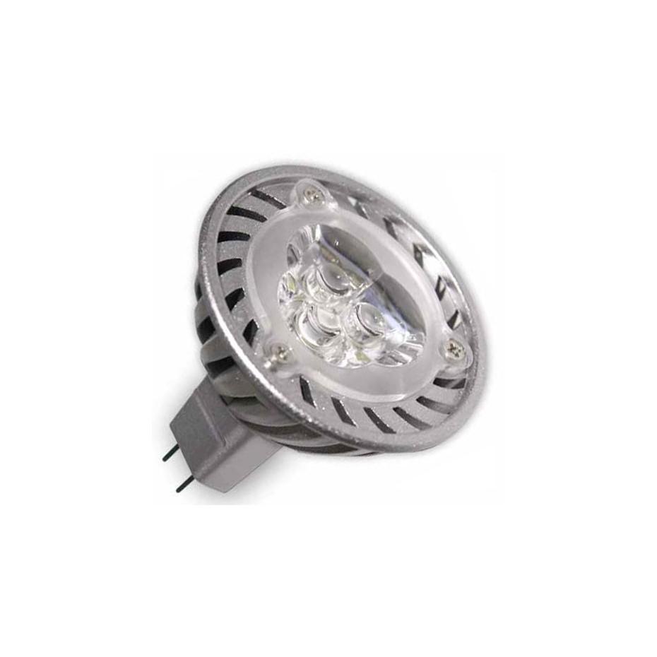 Caja 10 bombillas 3 LEDs MR16 3x1W 30/45º 2700k cálida