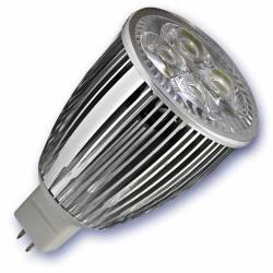 Caja 10 bombillas LED 9W (4x3W) MR16 G5,3 12V 6400K fria