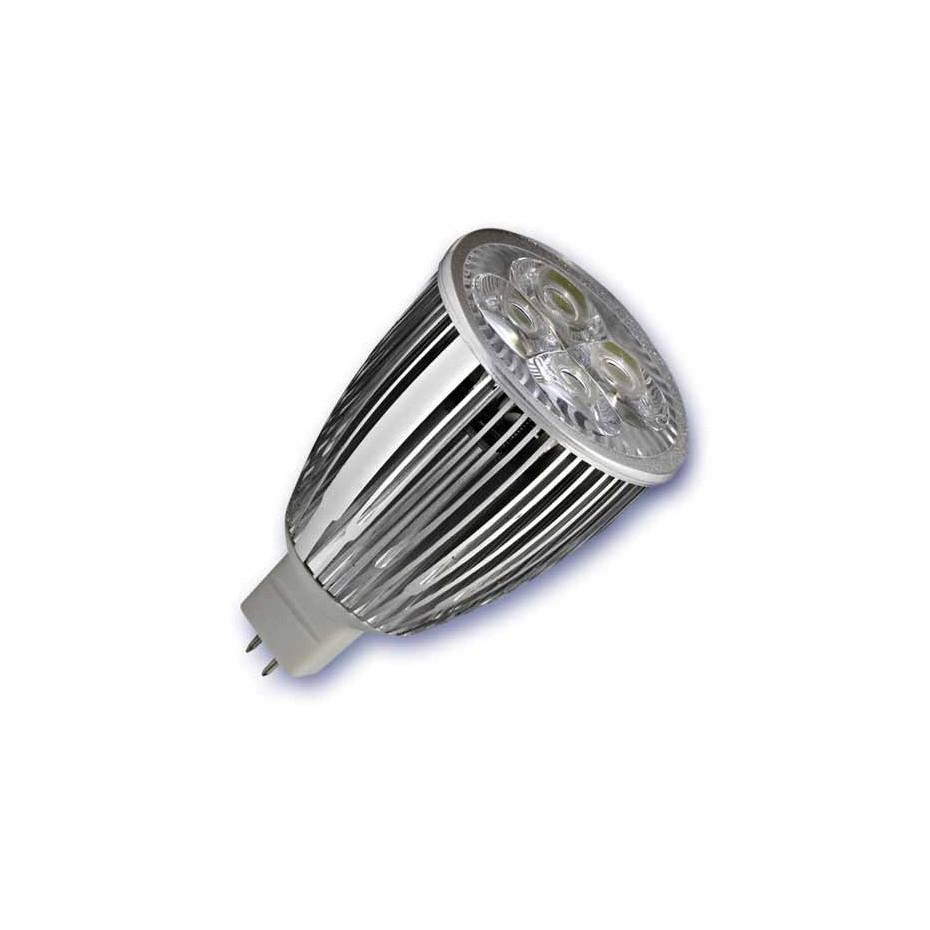 Caja 10 bombillas Dicroica 3x3W (9W) LED ultrabrillo, 12V casquillo MR-16  cálida 2700K