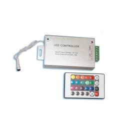 Controlador con mando a distancia de 4 botones - tiras de LED.
