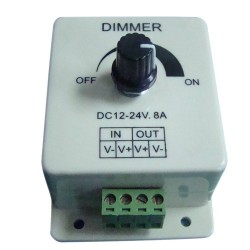 Dimmer - Regulador de intensidad 12-24V para tiras de LED