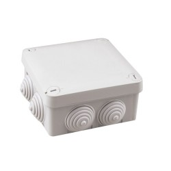 Caja de empalme superficie gris estanca 105x105x40mm IP54.