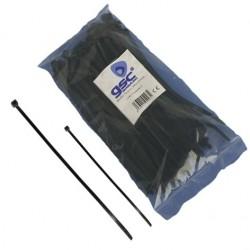 Bolsa de 100 unidades de bridas color negro, 100% nylon. 140x3,5.