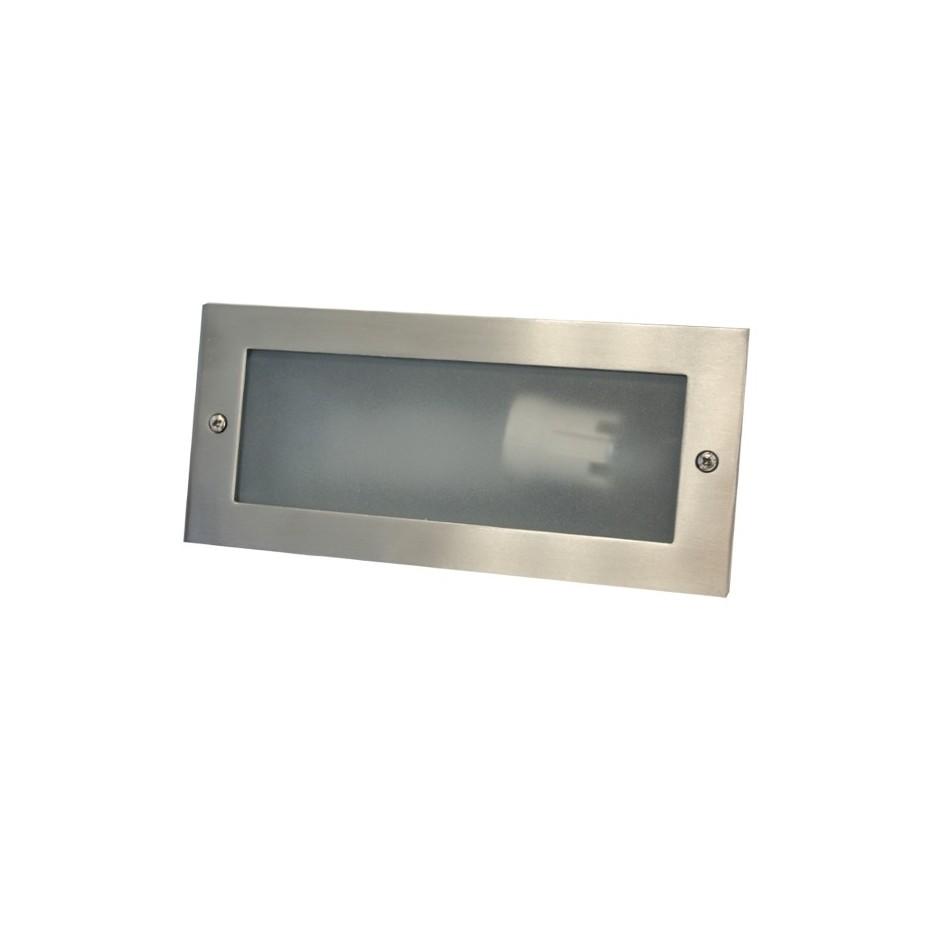 Aplique luminoso de aluminio para empotrar en pared. E27, color negro.