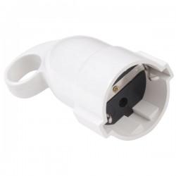 Clavija bipolar 4 mm. 10A - 250V, blanca