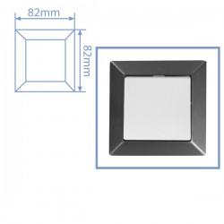 Embellecedor de empotrar Blanco para 1 modulo/hueco 82x82cm.