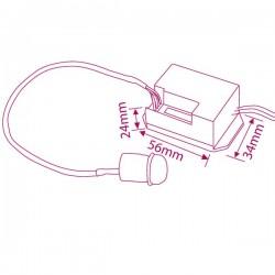 Detector de movimiento de empotrar 360º hasta 6 metros