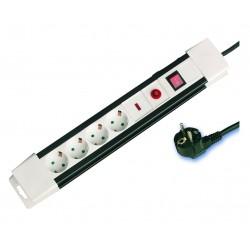 Base múltiple de 4 tomas (4T) con cable eléctrico