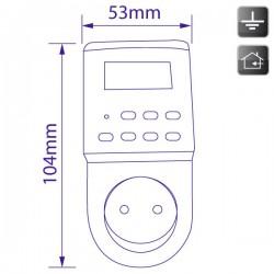Mini-temporizador digital diario / semanal con pantalla LCD