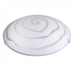 Plafón de techo redondo Blanco, E27 20W (60W) IP20, Uso interiores.