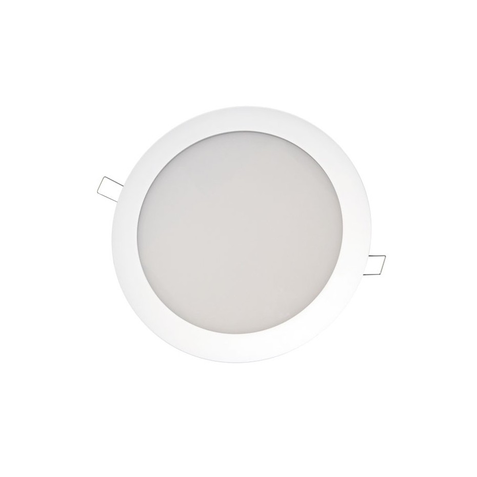 Downlight redondo empotrable directo a corriente 230V de Niquel Satin, 2x25W.