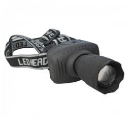 Linterna de cabeza con foco de 1 LED de ultrabrillo 3W.