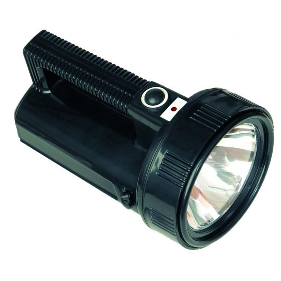 Linterna halógena multiusos de alta luminosidad resistente al agua.
