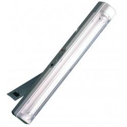 Luz de emergencia portatil,con asa y soporte de apoyo abatible, se piede instalar en pared, recargable,con alimentador.