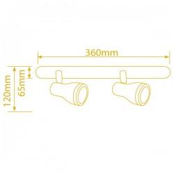 Foco techo halogeno, 50W GU10- Niquel Satin, directo a red 220V 50Hz, 95x80mm.