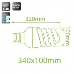 Caja 10 bombillas bajo consumo Espiral 85W E40 fría