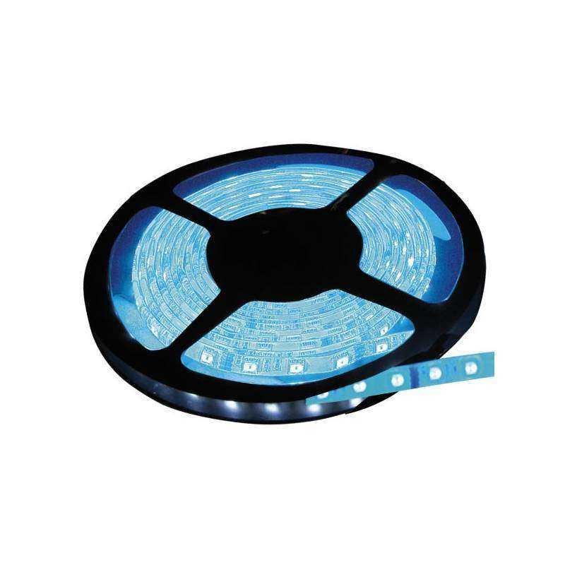 Rollo de 5 metros de tira led azul flexible ip65 - Tira led 5 metros ...