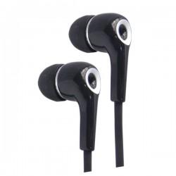 Auricular de Botón stereo de silicona Ø10 mm 1,2m Negro