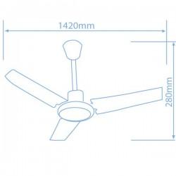Ventilador de Techo Industrial con regulador de pared