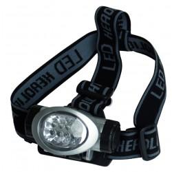 Linterna de cabeza de 8 LED con cintas ajustables