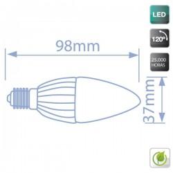 bombillas Vela LED 4W 320 Lm E14 3000K cálida