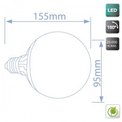 Bombilla Globo LED 19W 1521 Lm E27 cálida 3000K