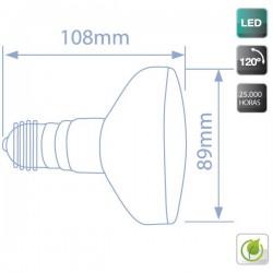 Bombillas Reflectoras R90 LED 9W 900Lm E27 cálida 3000K