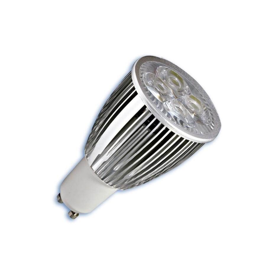 Caja 10 bombillas de 3 LEDs GU-10 3x3W (9W) 30/45º 2700K cálida