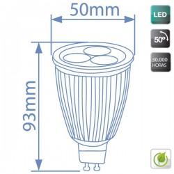 Bombillas LED GU10 9W 420 L 2700K cálida