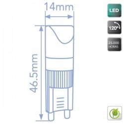 Bombillas LED Mini G9 2W 140Lm 5000K Fría