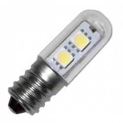 Bombillas pebetera de LED E14 1,2W 100 LM 6400K