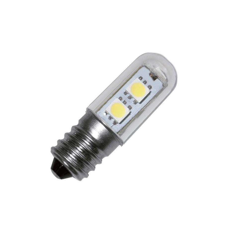 Caja 10 bombillas pebetera de LEDs, Casquillo E14, 220-240V o,1W 2 LEDs 6.000-7.000K, 30.000 Horas.