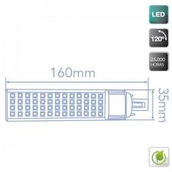 Bombillas LED PL G24 de 11W 1000L 6000K fría