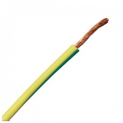 Rollo 100 mts Cable Hilo flexible 1x2,5 mm Verde/Amarillo