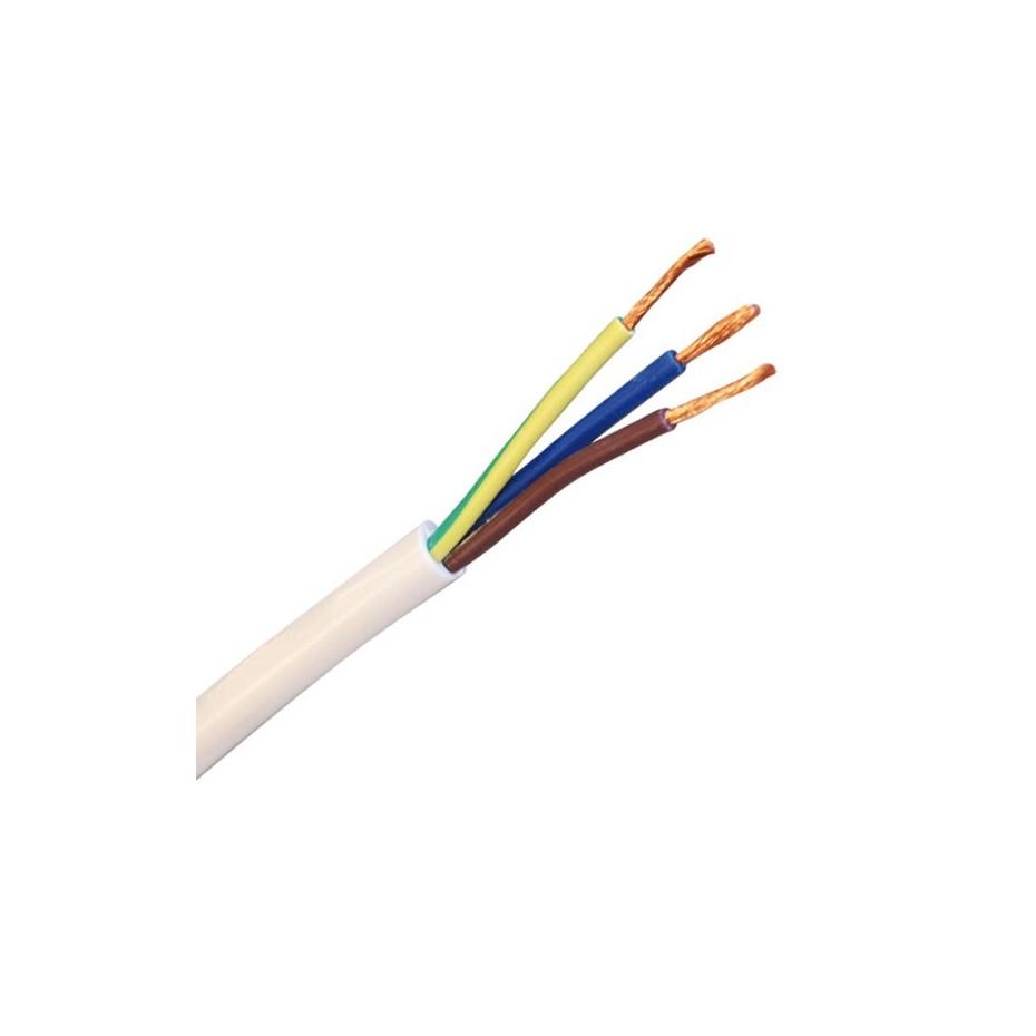 Rollo de 100 mts de Cable Paralelo blanco 2 x 0,5 mm