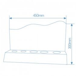 Expositor probador de bombillas, 3xE27, 1xE14,1xGU10.