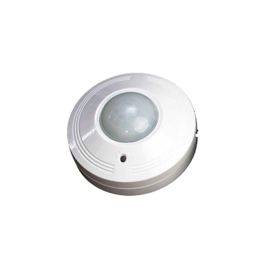 Detector de movimiento de superficie en techo. Area de detección de 360º. 230V 50Hz.
