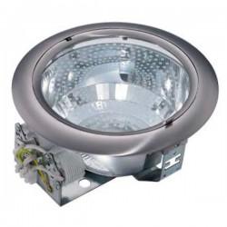 Mini-Downlight empotrable redondo de bajo consumo. Blanco, 2x9W.
