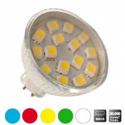 Bombillas decorativas 20 LEDs MR16 color amarilla