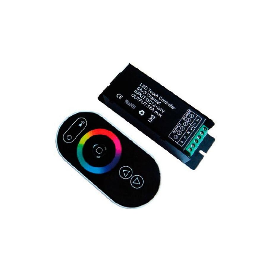 Controlador para tiras de LED RGB con mando a distancia táctil