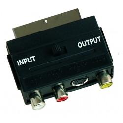 Adaptador euroconector-3 RCA