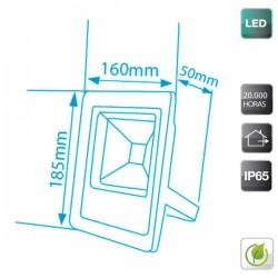 Proyector de LED Ultraplano 10W 500 lm Frío 6400K