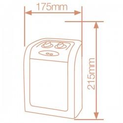 Calefector vertical ceramico giratorio 750W/1500W.