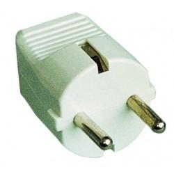 Clavija bipolar con entrada de cable recta Ø 4.8 mm. de material termoplástico