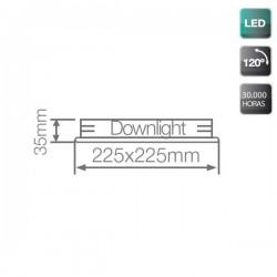 Downlight LED Superficie Blanco 18W 6000K 1300 Lm Cuadrado