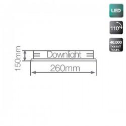 Plafón LED de Superficie Blanco 12W 3000K 1200 Lm Redondo