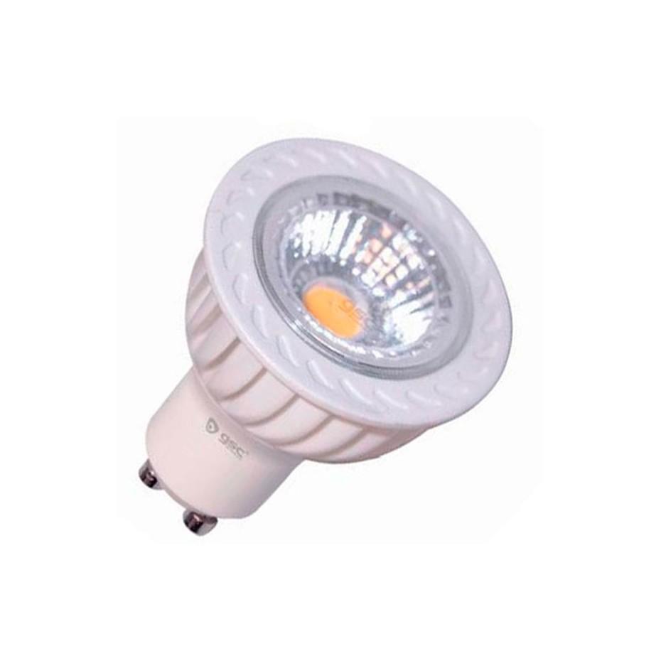 Caja de 10 Lámparas LED ultrabrillo GU10 de 51 leds de 120º cálida